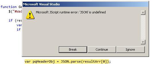 Microsoft JScript runtime error: \u0027JSON\u0027 is undefined « JG Vimalan\u0027s Blog